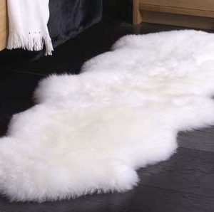 Double Sheepskin Long Wool Rug (Various Sizes)