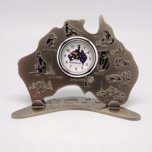 Stainless Steel Desktop Clock 14cm