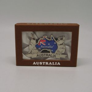 Australia Map and Flag Business Card Holder