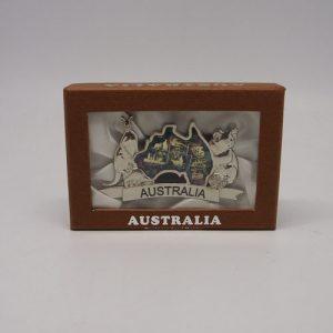 Australia Map Business Card Holder